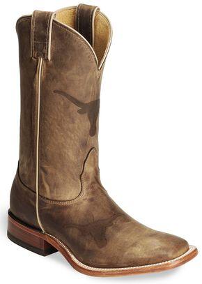 Nocona Texas Longhorns College Boots - Square Toe, Tan, hi-res