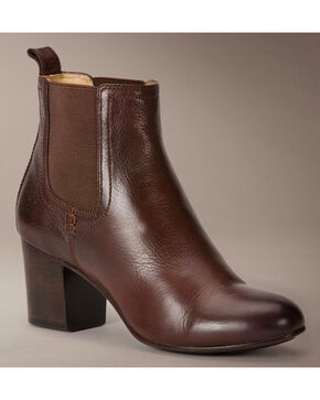 Frye Stella Chelsea Short Boots, Dark Brown, hi-res
