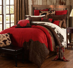 HiEnd Accents Red Rodeo King Comforter Set, , hi-res