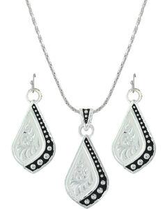 Montana Silversmiths Women's Silver The Path I Take Jewelry Set , , hi-res