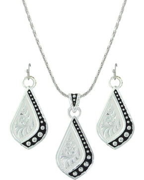 Montana Silversmiths Women's Silver The Path I Take Jewelry Set , Silver, hi-res