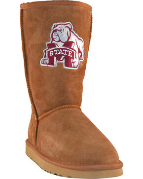 Gameday Boots Women's Mississippi State University Lambskin Boots, Tan, hi-res