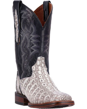 Dan Post Everglades Caiman Cowgirl Boots - Square Toe, Grey, hi-res