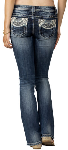 Miss Me Women's Indigo Signature Rise Jeans - Boot Cut, , hi-res
