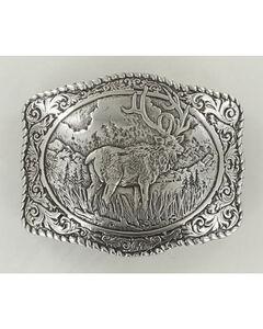 Crumrine Vintage Men's Elk Belt Buckle, , hi-res