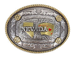 Cody James Men's Two Tone Nevada Oval Belt Buckle, , hi-res