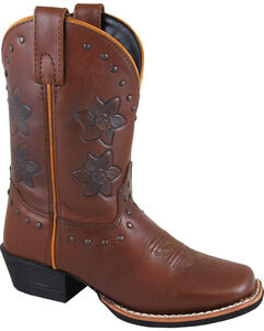 Smoky Mountain Girls' Lilac Western Boots - Square Toe , , hi-res