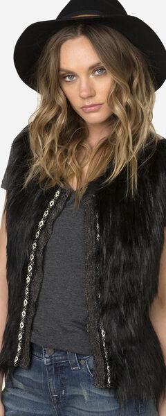 Miss Me Women's Faux Fur Sweater Vest, , hi-res