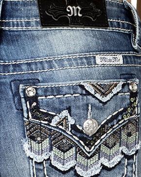 Miss Me Women's Medium Wash Scalloped Flap Skinny Jeans , Blue, hi-res