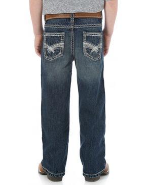 Wrangler Rock 47 Boys' Bootcut Electric Wash Jeans - 4-7, Denim, hi-res