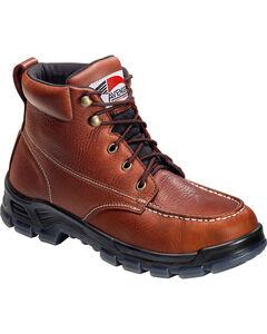 Avenger Men's Brown Waterproof Moc Toe Work Boots - Steel Toe, , hi-res