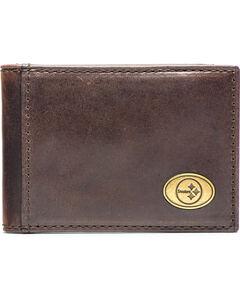 Jack Mason Men's Pittsburgh Legacy Flip Bifold Wallet , , hi-res