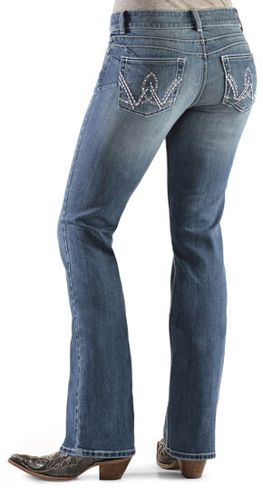 Wrangler Women's Premium Patch Booty Up Bootcut Jeans, Denim, hi-res