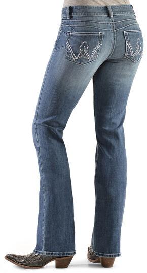 Wrangler Women's Premium Patch Booty Up Bootcut Jeans, Denim, hi-res