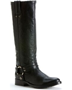 Frye Women's Melissa Harness Boots - Round Toe, Black, hi-res