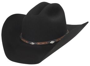 Larry Mahan Westbrooke 3X Wool Cowboy Hat, Black, hi-res