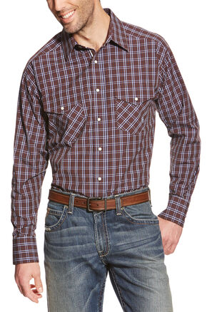 Ariat Men's Pro Series Raywood Snap Western Shirt - Big & Tall, Brown, hi-res