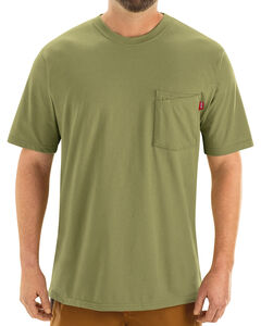 Red Kap Men's Moss Green Solid T-Shirt , , hi-res