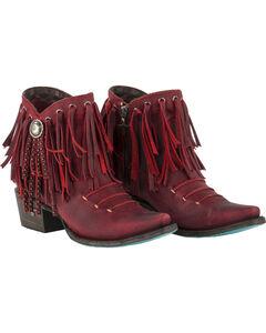Lane Women's Red Suzanne Booties - Snip Toe , , hi-res