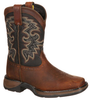Durango Boys' Western Boots - Square Toe, Tan, hi-res
