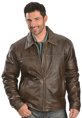 Red Ranch Leather Jacket, Brown, hi-res