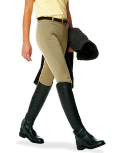 Ovation Girls' Euroweave Pull-on Breeches, , hi-res