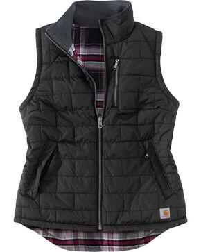 Carhartt Women's Black Amoret Quilted Vest, Black, hi-res