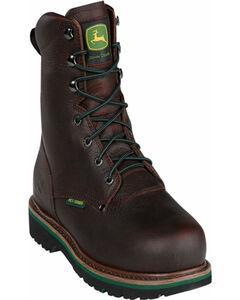 John Deere Men's Internal Met Guard Lace-Up Work Boots - Steel Toe, , hi-res
