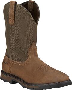 Ariat Men's Groundbreaker Western Work Boots - Square Toe, , hi-res