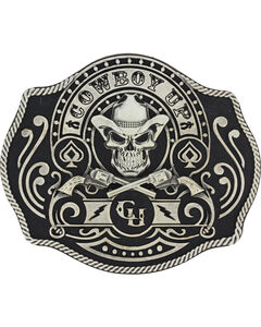 Montana Silversmiths Men's Silver Cowboy Up Belt Buckle , , hi-res
