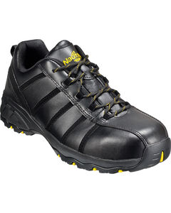 Men's Nautilus Men's Black Metal Free Work Athletic Shoes - Comp Toe , , hi-res