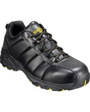 Men's Nautilus Men's Black Metal Free Work Athletic Shoes - Comp Toe , Black, hi-res