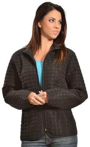 Jane Ashley Women's Quilted Circle Jacket, Black, hi-res