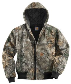 Carhartt Quilted Flannel Lined Camo Active Jacket, , hi-res