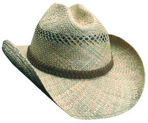 Scala Seagrass Straw Western Hat, Straw, hi-res
