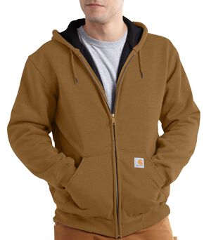 Carhartt Thermal Lined Hooded Zip Jacket - Big & Tall, Brown, hi-res