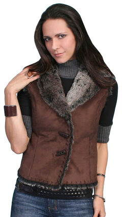 Scully Faux Shearling Vest, , hi-res