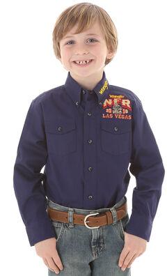 Wrangler Boys' NFR Logo Shirt, , hi-res