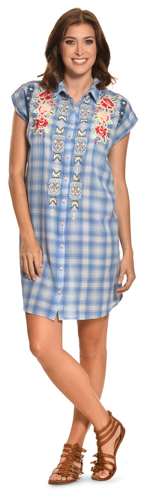 3J Workshop Women's Cora Button-Back Easy Tunic, Plaid, hi-res