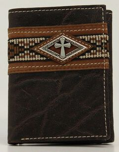Ariat Ribbon Tri-Fold Wallet, , hi-res