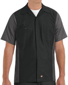 Red Kap Men's Crew Short Sleeve Shirt - Big & Tall , , hi-res