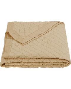 HiEnd Accents Diamond Pattern Khaki Linen Full/Queen Quilt, , hi-res