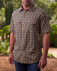 Ryan Michael Men's Wheat Gingham Short Sleeve Shirt , , hi-res