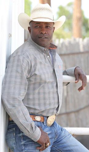 Cinch Men's Cream Button-Down Long Sleeve Shirt  , Cream, hi-res