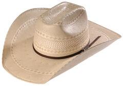 Twister Men's Shantung Straw Diamond Cowboy Hat , , hi-res