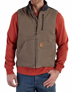Carhartt Men's Sandstone Mock-Neck Vest, , hi-res