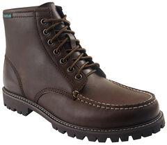 Eastland Men's Brown Lucas Moc Toe Boots , , hi-res