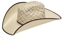 Twister 10X Criss Cross Vent Bound Edge Straw Cowboy Hat, , hi-res
