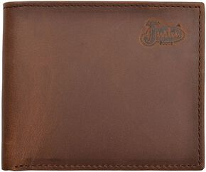 Justin Distressed Leather Bi-fold Wallet, Tan, hi-res
