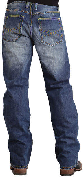 Stetson Modern Fit Classic X Stitched Jeans, Med Wash, hi-res
